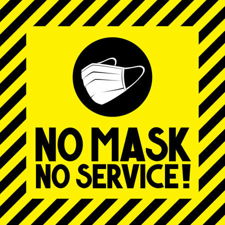 Face mask required - Covid-19, SARS-CoV-2 virus - vector illustration 向量圖像