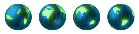 World map, Earth - all continents - 3D illustration
