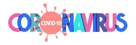 Coronavirus - typographical concept, vector illustration
