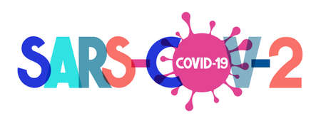 Sars-CoV-2 - typographical concept, vector illustration