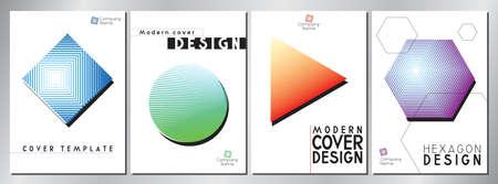 Modern, minimal cover design with stripes - vector illustration  イラスト・ベクター素材
