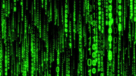 Matrix, binary code - computer application, Internet concept - 3D illustration Standard-Bild