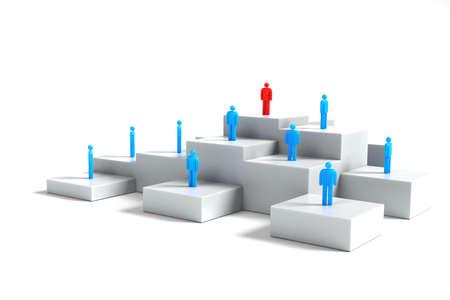 Leadership concept. (Digitally generated image) photo
