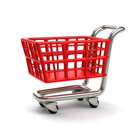 ��digitally generated image�: Shopping cart. (Digitally generated image)