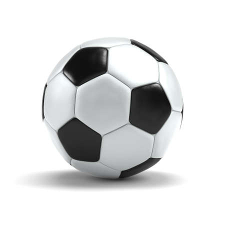 soccerball: Soccerball on a white background.