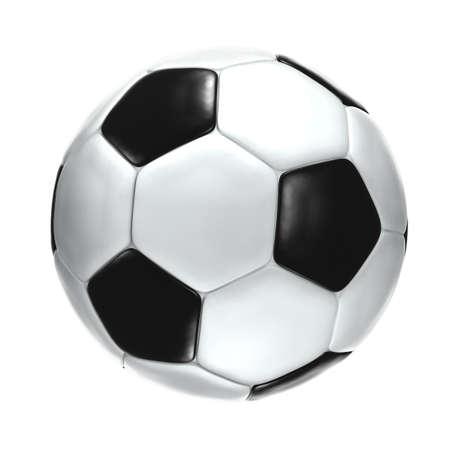 soccerball: Isolated soccerball.  Stock Photo