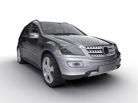 car showroom: nice car on the white