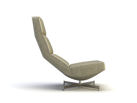 modern chair on the white background Imagens