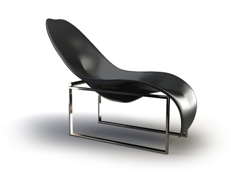 black modern chair on the white background Stock Photo
