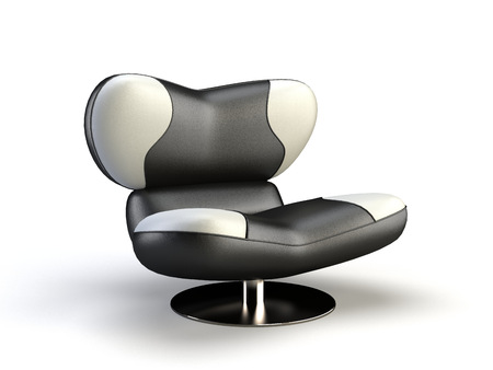stylish 3d chair on the white background Stock Photo