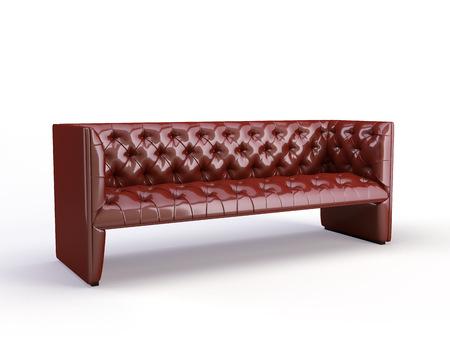Klassisches 3d Sofa auf dem weißen Hintergrund