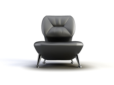 black chair on the white background 版權商用圖片