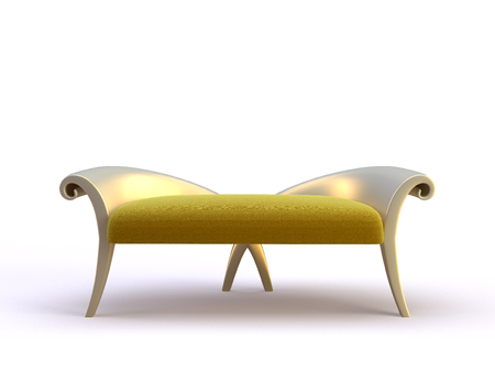 stylish 3d sofa on the white background