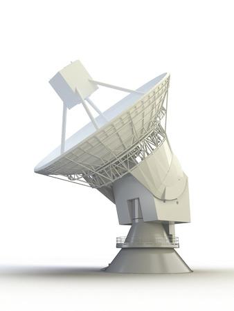Antennes satellite 3D sur le blanc Banque d'images