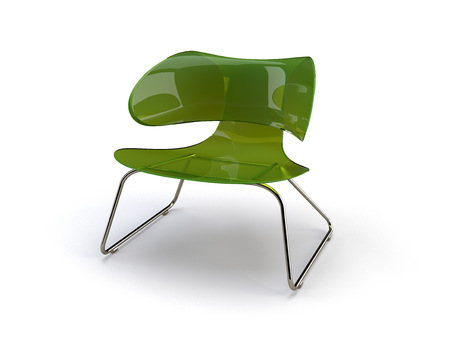 stylish 3d chair on the white background 版權商用圖片
