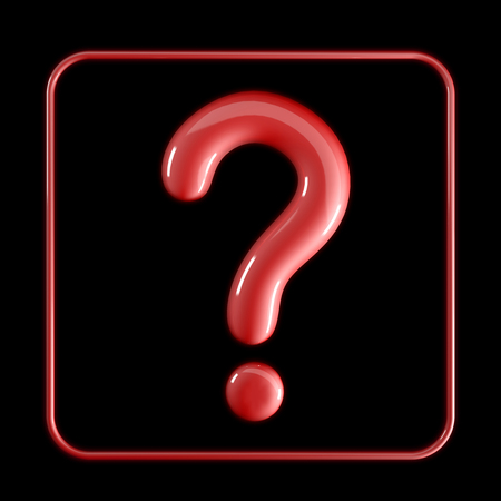 question icon on dark background Stock Photo