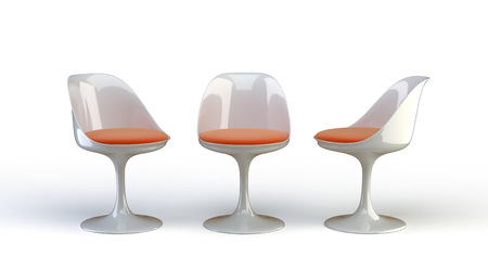 chairs on the white background