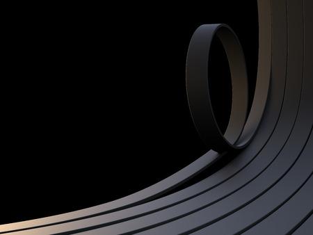3d lines on black background