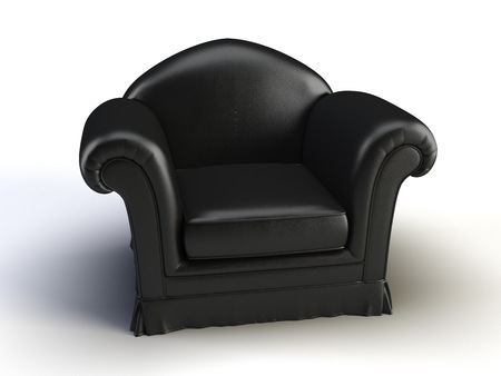black chair on the white background Stock Photo