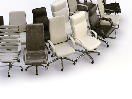 office chairs on the white background 版權商用圖片