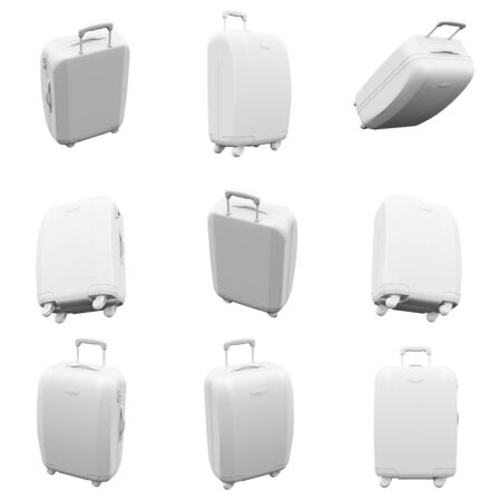 suitcase isolated on the white background 3D Rendering
