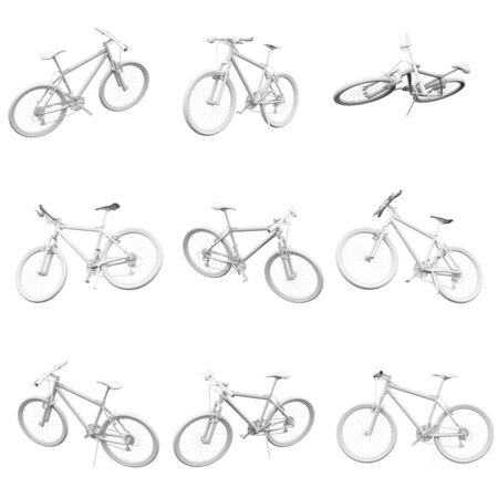 Bike isolated on the white background 3D Rendering