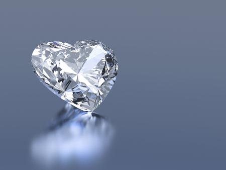 coeur diamant: coeur pierre 3d diamant