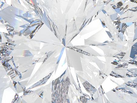 3D illustration crop diamond texture zoom Standard-Bild