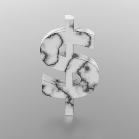 savings account: 3D illustration marble dollar on a white background