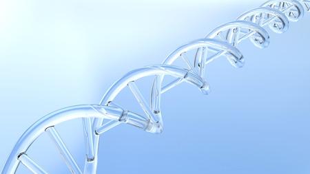 stinks: 3D illustration chemistry dna on a blue background