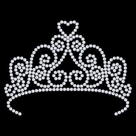 millonario: 3D illustration diamond crown tiara with glittering precious stones  on a black background