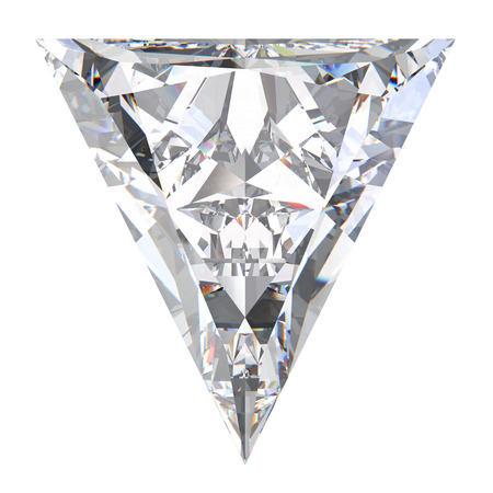 diamond stones: 3D illustration triangle diamond stone on a white background