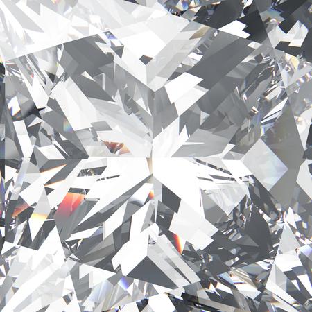 3D illustration closeup crop diamond texture macro zoom background Stock Photo