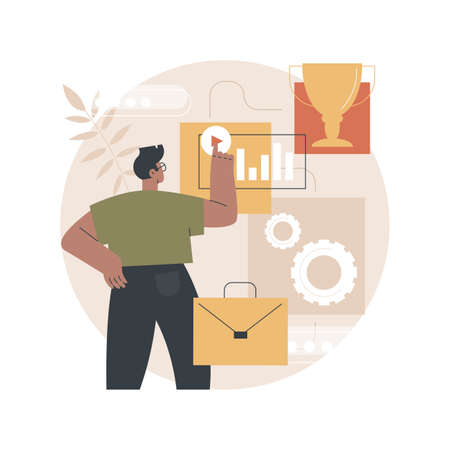 Career advice abstract concept vector illustration.