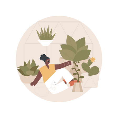 Seasonal planters abstract concept vector illustration.