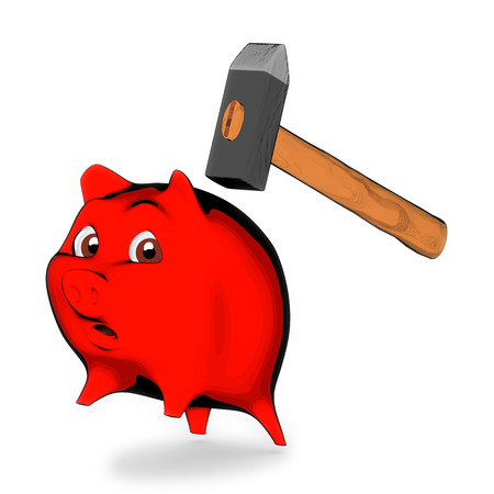 slaughter: Slaughter piggy bank Stock Photo