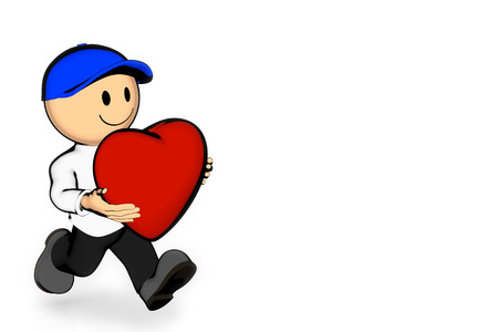 liked: run with heart Stock Photo