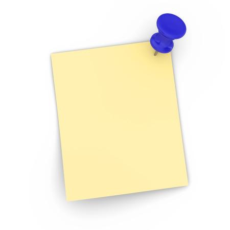 hoja en blanco: hoja en blanco con el pin Foto de archivo