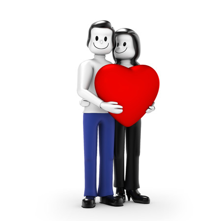 cordiality: Couple with heart