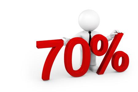70: 70 percent Stock Photo