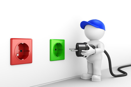 energy suppliers: Change electricity Stock Photo