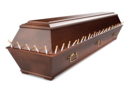 fag: coffin nail Stock Photo