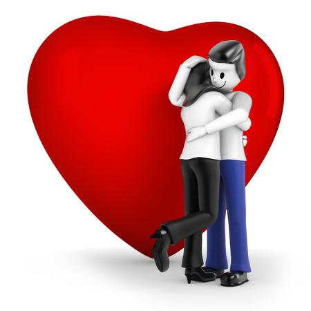 cordiality: Couple hugging
