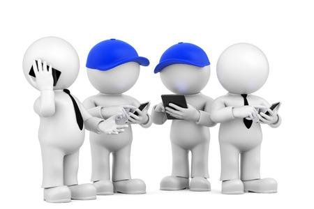 moderne communicatie Stockfoto