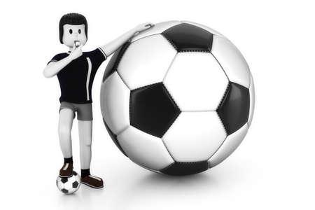 kickoff: Match kickoff Stock Photo