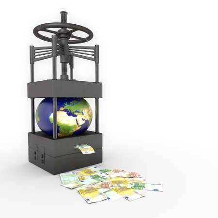 exploitation: global exploitation Stock Photo