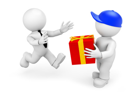 parcel service Standard-Bild
