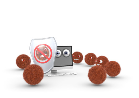 protect: protect computer Stock Photo