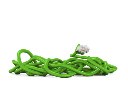 clutter: green cable clutter