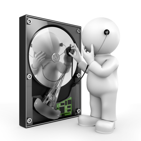 Listening to hard disk Banque d'images - 40231046